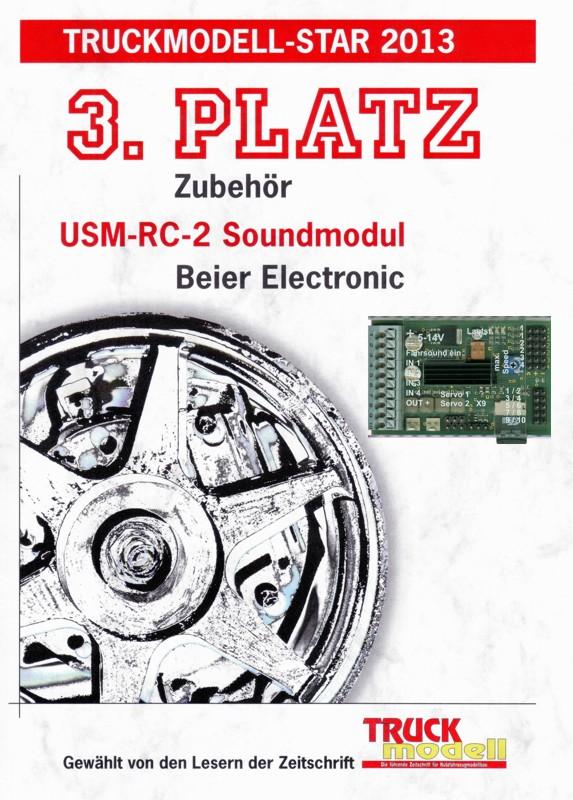 rc import soundmodul usm rc 2 mit dvd rom von beier electronic. Black Bedroom Furniture Sets. Home Design Ideas